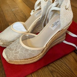 Valentino Lace wedges